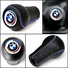 BMW ///M SPORT 70s - 80s LEATHER GEAR STICK SHIFT KNOB E23 E24 E28 E30 M3 M5 M6