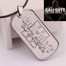 Hot Call of Duty Ghosts Black Ops III Choker Necklace Pendant Dog Tag Jewelry