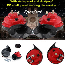 2pcs Loud Dual Tone Snail Universal Electric Horn 12V 105 DB For Car Truck Auto