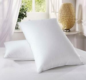 New Luxury Duck Feather Pillows - Hotel Quality - Extra Filling - Firm Support