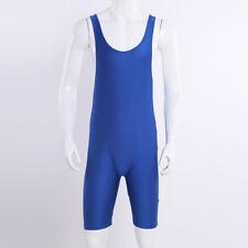 Men's One-Piece Stretch Bodysuit Leotard Tank Top Boxer Briefs Underwear Singlet