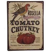 Rosella Tomato Chutney Tin Sign Metal Plaque Kitchen Advertising 35cm x 26cm