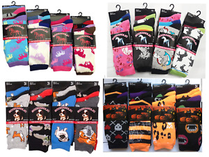 Womens Ladies Girls Horse Print Unicorn Design Warm Cozy Everyday Socks 4-7