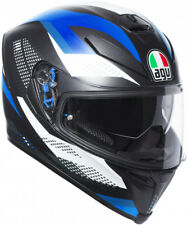 Agv K-5 S Marble Matt Black White Blue MS 57 Casco Integrale Pinlock Moto