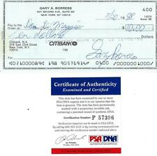 Early Wynn/Dom Dimaggio Dual Signed Endorsed Check PSA/DNA #P57306