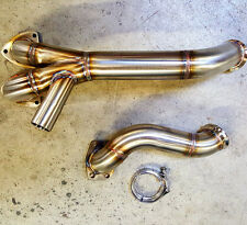 Porsche 944 turbo 304SS two piece crossover pipe