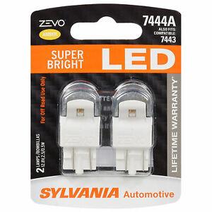 Sylvania Zevo 7444 Amber LED Bright Interior Exterior Mini Light Bulb, 2 Pack