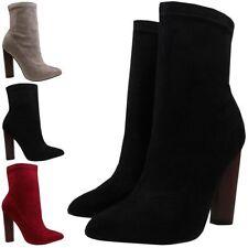 High Heel (3-4.5 in.) Clubwear Block Pull On Boots for Women