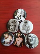 """1.25"""" Madonna pin back button set of 6"""