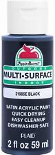 Apple Barrel Multi Surface Acrylic Paint, 2 oz, Black, 2 Fl Oz