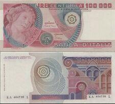 1980 Italia Banconota Lire 100000 Botticelli D.M. 01-07-80 Ottima Conservazione