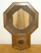 Antique New Haven Drop Octagon Wall Clock Case w/ Paper Label, Original Finish