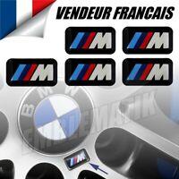 5 Stickers Jantes BMW MTech Logo 3D M performance Adhésif M3 E46 E60 E81 E90 E92
