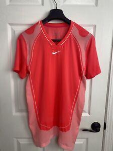 Nike Rafa Nadal 2010 US Cincinnati Vamos Crew Tennis Polo Shirt Medium Federer