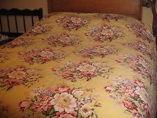 Vintage Ralph Lauren BROOKE/Sophie Floral King Size Comforter Made in USA Yellow