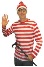 Red And White Striped Shirt One Size Adult Unisex Wally Costume Long Sleeve NEW
