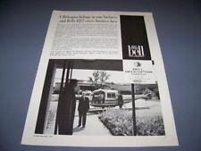 VINTAGE..1963 BELL 47J-2 HELICOPTER..ORIGINAL SALES AD...RARE! (615N)
