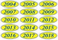 Oval Model Year Stickers, Windshield Stickers for Car Dealers, Car Lots
