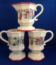 Avon Sweet Country Harvest Set of 2 Pedestal Mugs and 1 Creamer