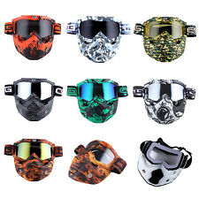 Motorcycle Goggles Mask Detachable Motocross Use Tactical Airsoft Goggles Mask