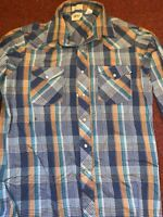 Vintage Lee Mens Size large Pearl Snap multi-color Western Shirt USA