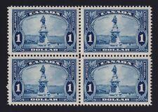 Canada Sc #227 (1935) $1 blue Champlain Monument Block of 4 Mint VF NH