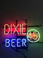 "Dixie Beer 45 Neon Lamp Sign 17""x14"" Bar Light Glass Artwork Display"