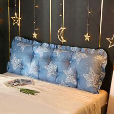 71' Blue Star Triangular Wedge Bed Sofa Lumbar Pillow Cushion Backrest