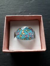 Brand new childs blue butterfly ring size I! Childrens kids costume jewellery!
