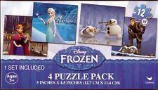 "Jigsaw Puzzle DISNEY FROZEN Princess Characters 12 pcs each 5"" x 4.5"" 4  Pack S1"