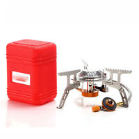 Portable Outdoor Picnic Gas Burner Foldable Camping Mini Steel Stove +Case