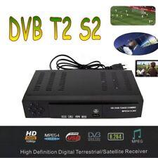 HD Digital Satellite TV Receiver FTA 1080P Decoder Tuner Box DVB-T2+DVB-S2 Combo