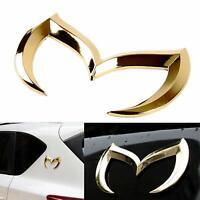 3D Metal Gold Bat Batman Evil M Side Rear Trunk Tailgate Emblem Badge for Mazda