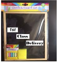 Blackboard Chalkboard Menu Home School Office Kitchen With Chalk & Eraser
