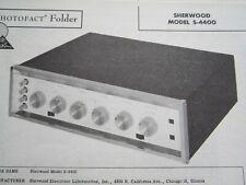 SHERWOOD S-4400 PRE-AMP AMPLIFIER PHOTOFACT