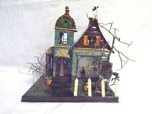 Vintage Halloween LIGHTED SPOOKHOUSE by House of Lloyd - Mint in Box!