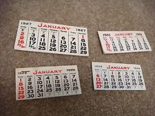 Assorted vintage paper calendars from the late 1920s - early 1930s.