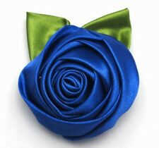 NEW Women DIY Rose Flower Cloth Hair Clip Flowers Brooches Costume Accessories