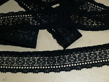 10 Mtrs x Black 2.3cm Wide Soft Feel Stretch Lace. Ideal Lingerie ( B23/10 )