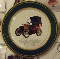 Ancienne assiette publicitaire SHELL AUTOMOBILE PANHARD & LEVASSOR 1899 type B1