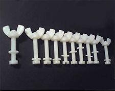 10 Nylon Screw Sets M6 Wing Nut, Washer & Bolt 50mm Length