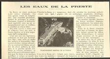 66 LA PRESTE ETABLISSEMENT THERMAL ARTICLE DE PRESSE 1928