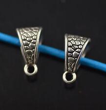 100 Bails Connectors Holder Clasp Fit 6mm Leather Cord European Bracelet Design