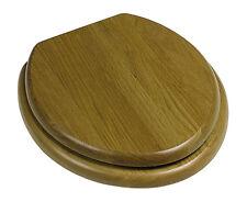 héritage chêne cuvette de WC avec or charnières (foa100)