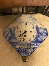 Porcelain Face Wind-Up Pendulum Clock From Germany- Working