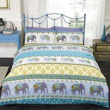 Jaipur éléphant Set Housse de couette double - Bleu - literie