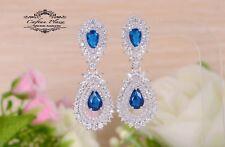 Pendientes Lujo DE CIRCONITA AAA Candelabro XXL STELLUX™ Cristales Azul