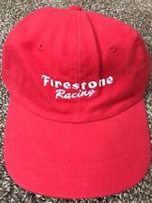 Firestone Tires Filling Station Racing Red Baseball Hat NWOT