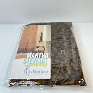 martha stewart shower curtain tortoise 100% vinyl 70x71 brown NWTs