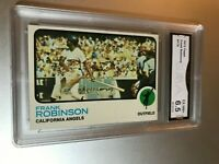FRANK ROBINSON (HOF) 1973 Topps #175 GMA Graded 6.5 EX-NM+